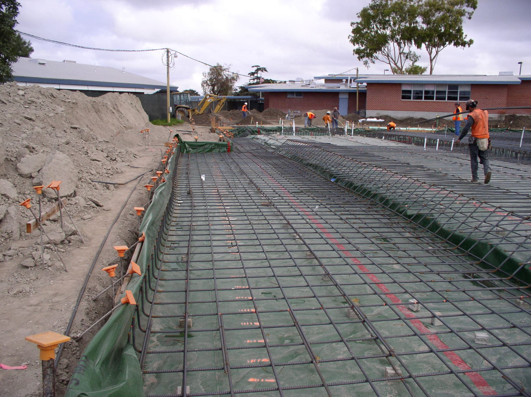 Johnson Middle School Underslab Vapor Barrier & Concrete Waterproofing Project 4