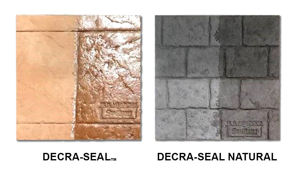 Decorative Concrete Sealers Stamped Designs Acid Stains Exposed Aggregate W R Meadows