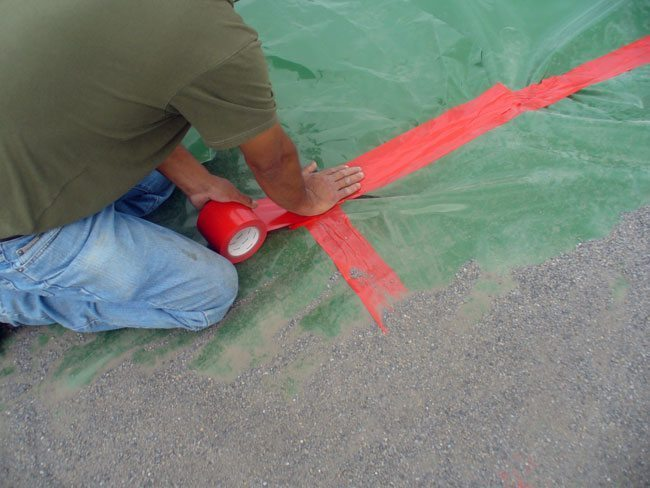 """Red Carpet and Floors Vapor Barrier Seam Tape 4/"""" x 180/' for Crawlspace"""